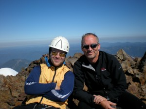 Brad and Bill on summit day, July 2009