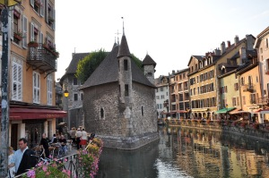 "Heart of the ""vielle ville,"" Annecy (French alps)"