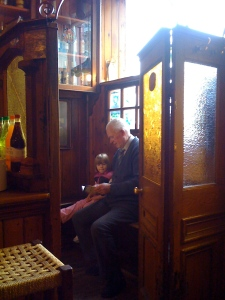 Lily and Mr. Sullivan in the snug