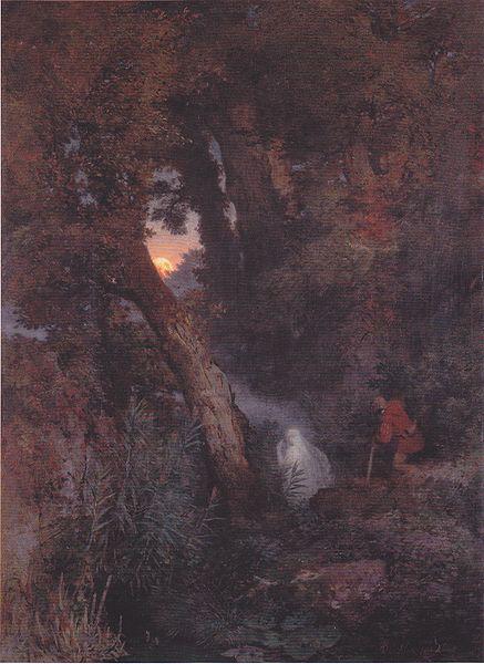 Arnold Böcklin - Das Irrlicht -1882