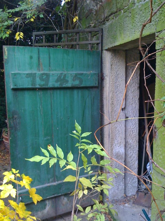 Door to root keller, by barn