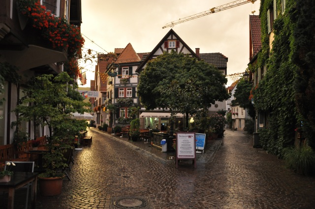 Town centre of Besigheim, up the street from mom's