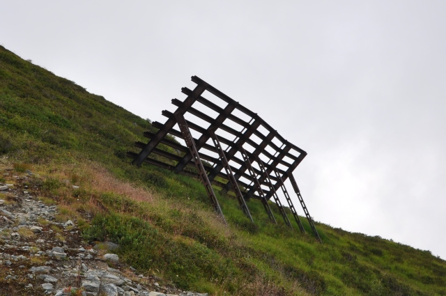 These structures built to impede avalanches, with varying success