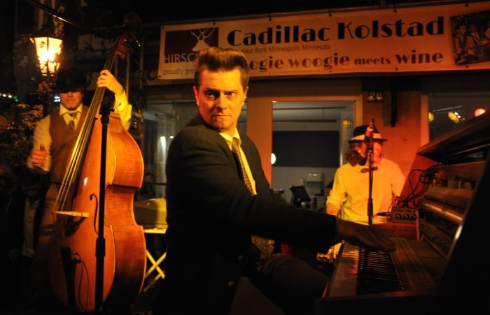 Minnesota Boogie Woogie band Cadillac Kolstad & The Flats, at the Hotel Hirsch, Besigheim