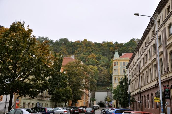 Pedestrian tunnel under Vitkov Hill
