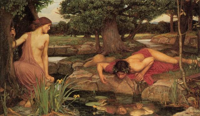 John William Waterhouse - 'Echo and Narcissus,' Wiki commons