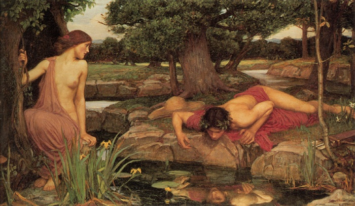 John William Waterhouse - 'Echo and Narcissus,' Wiki commons