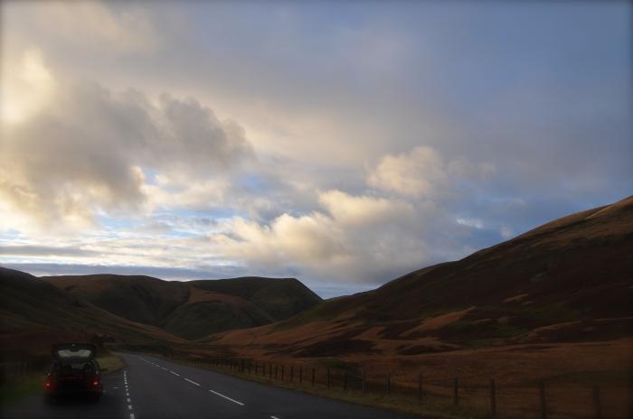 Scenic route between Edinburgh and southwest Scotland