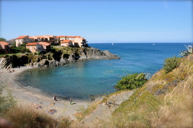 Beach opposite Les Batteries, Collioure