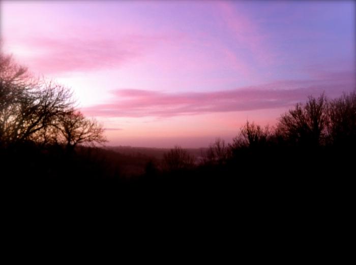 Valley overlooking Tucking Mill Lake, Bath