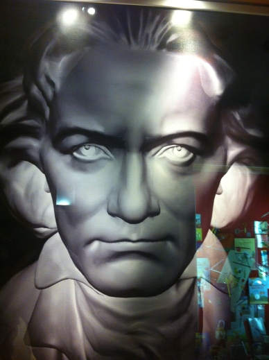 Beethoven poster, music school, Vienna