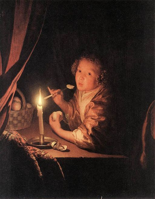 'Girl Eating an Apple,' Godfried Schalken