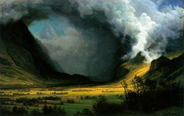 By Albert Bierstadt, 'Storm in the Mountains,' 1870