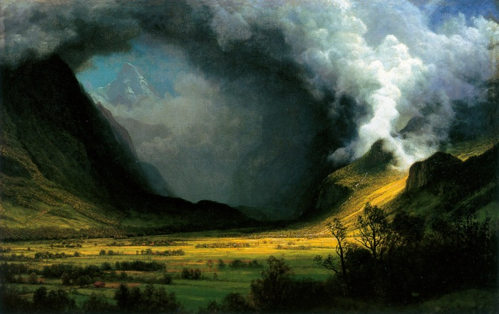 By Albert Bierstadt, 'Storm in the Mountains,' 1870