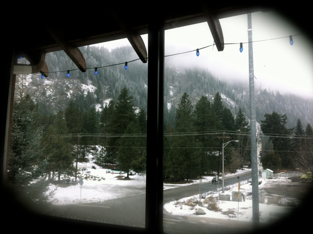 From a Howard Johnson's hotel room, Leavenworth WA ('13)