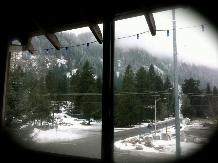 From a Howard Johnson's hotel room, Leavenworth WA ('13)