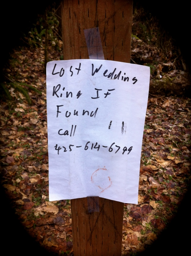 Lost Wedding Ring on Cougar Mountain